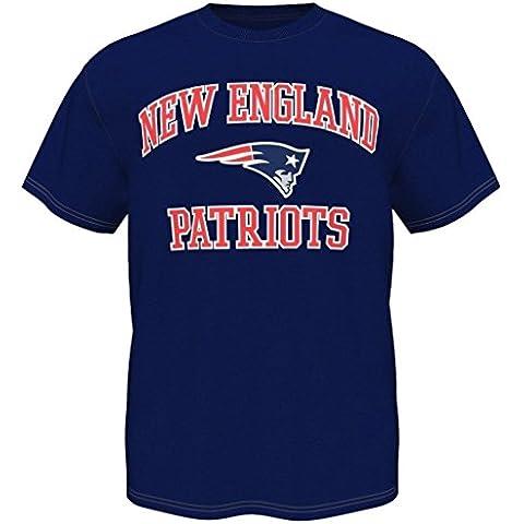 New England Patriots camiseta camiseta prendas de vestir con licencia oficial de la NFL, azul, XXL