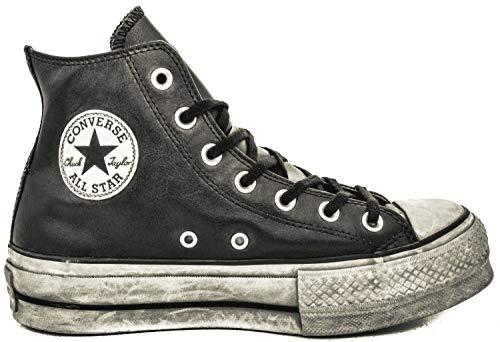 707074d124f Zapatos de Mujer Zapatilla Converse All Star Platform Cuero Negro Mujer  Otoño Invierno 2019