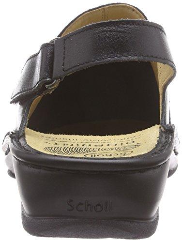 Scholl - Velba Black, Sandali Donna Nero (Nero (nero))