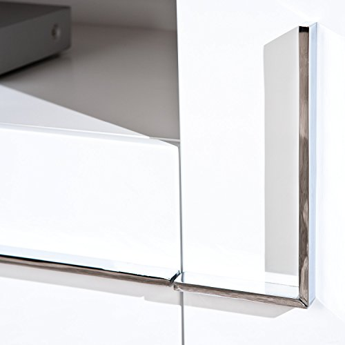Links 50700670 TV-Kommode Deltino III MDF, Hochglanz, 145 x 47 x 49 cm, weiᄃ - 5