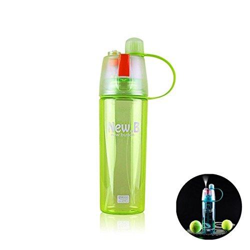 Fengh Outdoor Sport Sommer Leicht Tasse Wasser Flaschen Spray-600ml grün -