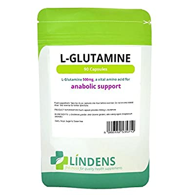 L-Glutamine 500mg Capsules (90 pack)