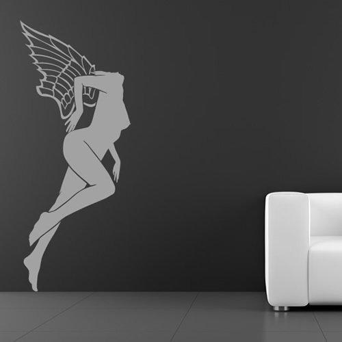 Himmlische Figur Engelsflügel Menschen und Gesichter Wandsticker Heim Dekor Art Decals verfügbar in 5 Größen und 25 Farben X-Groß Moos Grün