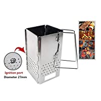 Ocamo Outdoor Wood Stove Folding Grill Stainless Steel Portable Camping Stove