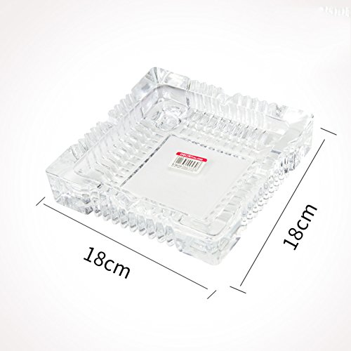 Cenicero de vidrio, Cenicero Europeo Grande Bar Mesa Sala de Estar Oficina Decoración Don-Grande L18xH18cm(7x7inch)