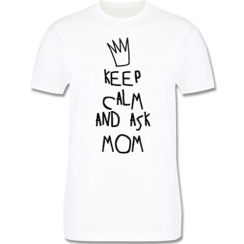 Statement Shirts - Keep calm and ask Mom Mum - Herren Premium T-Shirt Weiß