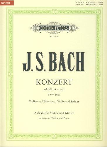 BACH - Concierto nº 1 en La menor (BWV:1041) para Violin y Piano (Oistrakh/Weismann)