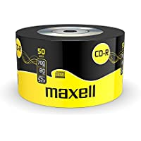 Maxell - CD-RW vírgenes (CD-R, 700 MB, 52x, 50 unidades)