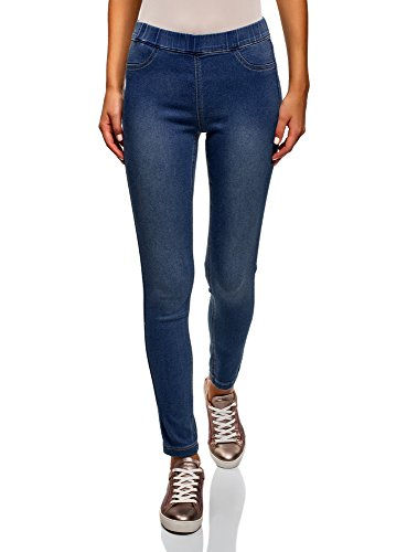 oodji Ultra Mujer Vaqueros Leggings, Azul, 27W / 32L (ES 38 / S)