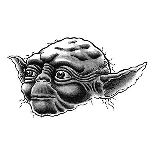 EROSPA® Tattoo-Bogen / Sticker temporär - Jedi Master Yoda / Star Wars - Meister (Star Wars, Jedi-meister)