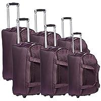 New Travel Duffles Trolly C1105/3P Bag, Plum