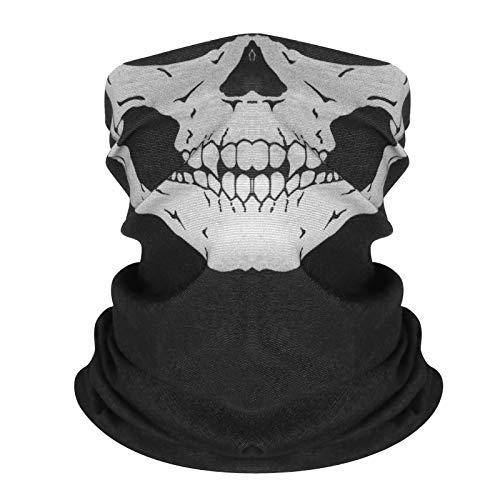 Xiaoqing Nahtlose Multifunktions-Reitmaske mit magischem Kopftuch, um die Halloween-Requisiten warm zu halten 面巾 头 头 百变 (Für Halloween-aktivitäten Alle Altersgruppen)