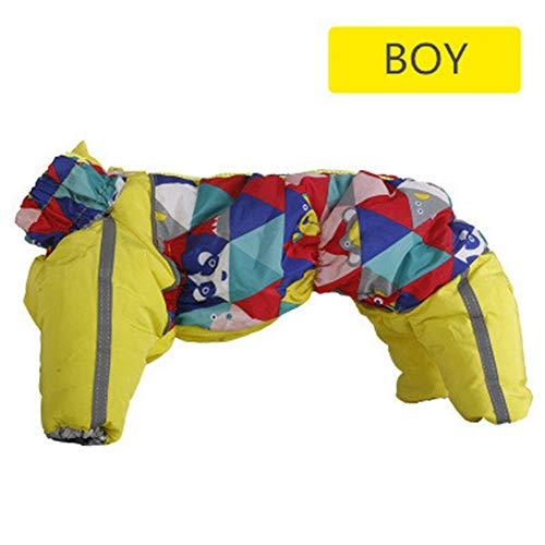 AMURAO Winter-Haustier-Kleidung,schneesichere Reißverschluss-Kleidung warme Haustiere Mantel-Kostüm Parkas-Waren (La Parka Kostüm Für Verkauf)