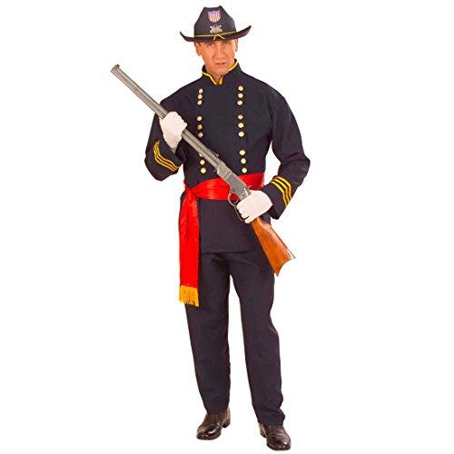 Yankee Kostüm Nordstaaten Offizier Herrenkostüm XL (54) General Soldatenkostüm Fasching US Soldat Faschingskostüm Nordstaatler USA Armee Karnevalskostüm Uniform Verkleidung Karneval Kostüm Herren