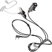Kenwood Radio 2pin auricular/auriculares con micrófono de policarbonato de alto impacto (THE-SECURITY-STORE)