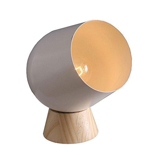 Rishx Nordic moderne desktop metall nacht leuchte e14 eisen tischlampe schreibtisch licht bank wohnzimmer nacht laterne kreative modische holztischlampe mit schalter -