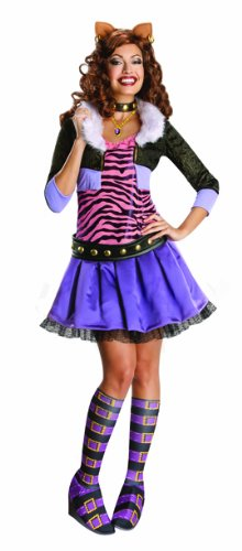 Monster High Damen Kostüm Clawdeen Wolf Karneval Halloween Gr.XS