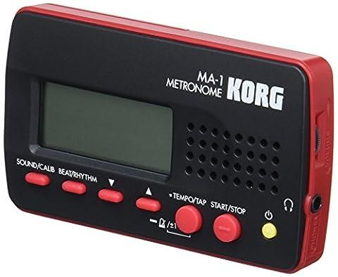 Korg MA-1 Digital Metronome (Black & Red)