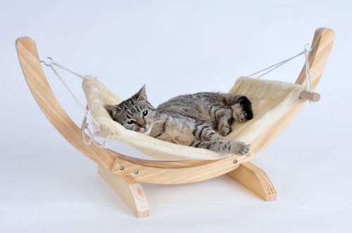 SILVIO DESIGN Katzen-Hängematte Cat Relax 35 cm, 30 cm, natur