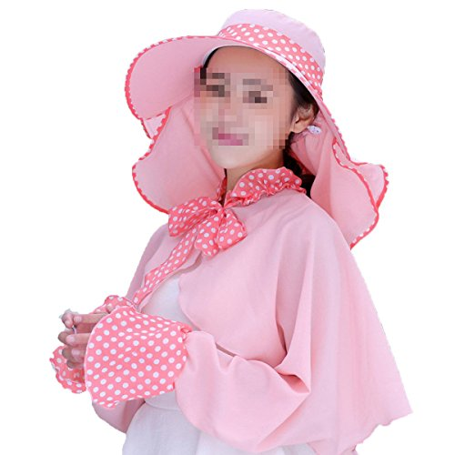 Mesdames Veil Dentelle Protection UV Crème Solaire Extérieure Chapeau De Soleil 3
