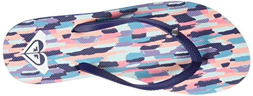 Roxy Damen Bermuda Plateausandalen Blau (Navy/White)