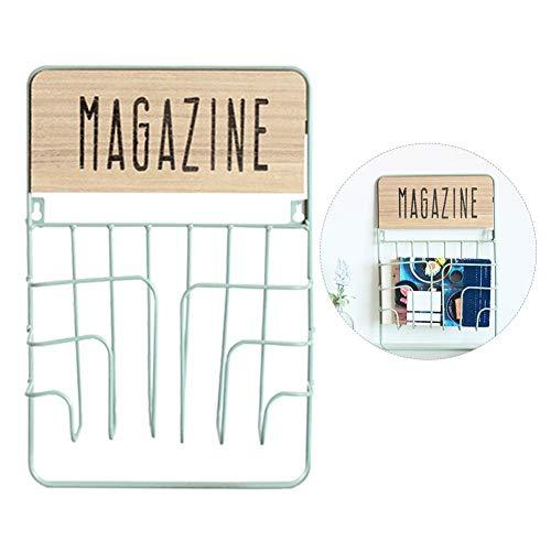 Gereton Dekorative Magazin Korb Moderne Zeitungsdatei Organizer Wand Montiert Magazin Halter Eisen Kompakte Rack für Familienzimmer Büro Badezimmer