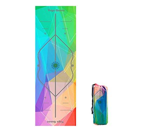 Barrageon Toalla de Yoga Microfibra con Silicona Antideslizante Super Sudor Absorbente y Secado Rápido, Ideal para Ashtanga, Bikram, Yoga, Pilates, Fitness Actividades Deportivas Color E