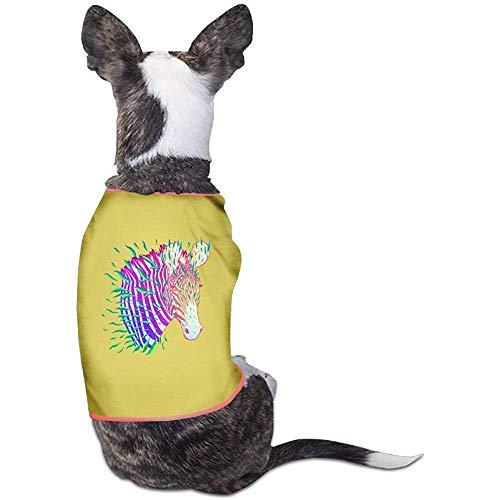 Hunde Kostüm Zebra - Frederih Bunte Zebra Schöne Hund Katze Shirt Kostüm Haustier Sport Kleidung Pullover Welpen Warmes T-Shirt Outfit Tops M (Brust 44 cm, länge 30 cm)