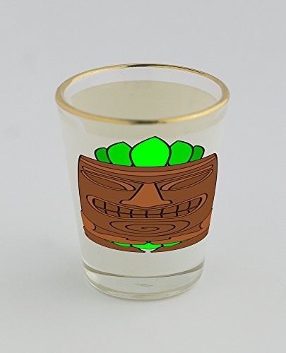 Tiki-Shotglass-con-Golden-Rim