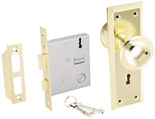 Preisvergleich Produktbild Ultra Hardware 44609 2-1 / 4 Brass Old Time Mortise Interior Door Lock Set by Ultra Hardware