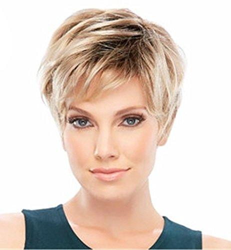 Pixie Cut synthetische Perücke Super Short-Haar-Perücke für Damen Mixed Blonde 0102 (Pixie Cut Perücken)