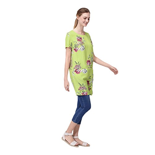 Joules Ianthe Woven Tunic Dress (U) Lime Floral