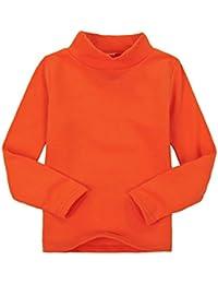 5a983e2b4 Casa Niños unisex Tops chica niña de manga larga camiseta de algodón cuello  alto Tee variedad