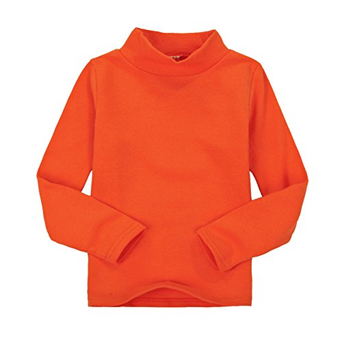 CuteOn Niños para niños   Cuello Alto   De manga larga   algodón   De camisetas, Tops, Tee Shirt- Varios Colores, naranja, 24 Meses