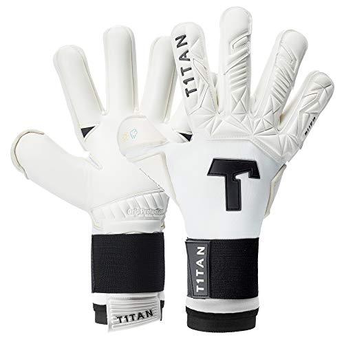 T1TAN Alien White-Out 2.0 Torwarthandschuhe für Erwachsene, Fußballhandschuhe Herren & Frauen Innennaht und 4mm Profi Grip - Gr. 11