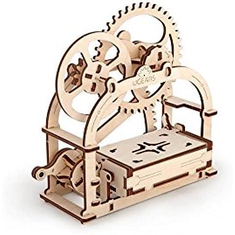 Mecánica Caja por ugears es rompecabezas 3d Puzzle de madera para niños, adolescentes y adultos