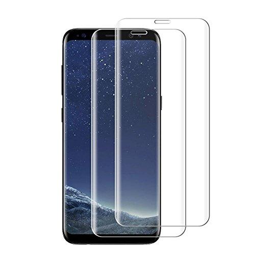 Preisvergleich Produktbild Samsung Galaxy S8 Plus Panzerglas Displayschutzfolie (transparent). Samsung S8 Plus Schutzfolie 3D Touch Kompatibel Displayschutzfolie 9H Härtegrad Panzerglasfolie für Galaxy S8 Plus.[2 Stück]