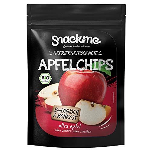 Bio getrocknete Apfelchips Apfelscheiben Apfelringe Fruchtchips knusprig gefriergetrocknet 120g aus Deutschland ohne Zucker ungeschwefelt naturbelassen
