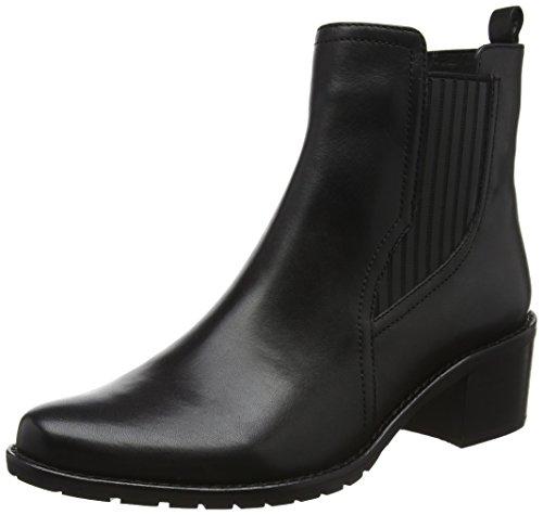 Caprice Damen 25303 Chelsea Boots Schwarz (Black Nappa)