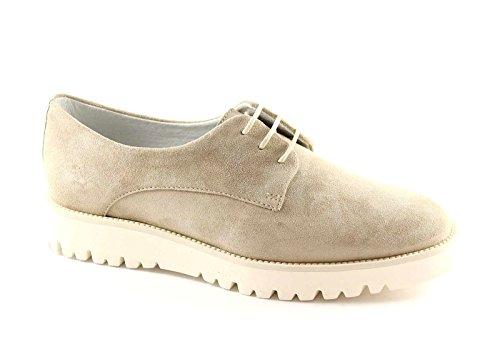 FRAU 93C2 sabbia scarpe donna sneakers camoscio lacci Beige