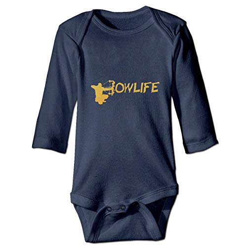 WBinHua T-Shirts für Baby-Jungen,Bertha Gold Bow Life Baby Infant Long Sleeve Onesies Bodysuits