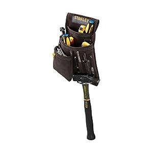 STANLEY STST1-80114 – Bolsa para clavos con soporte para martillo, amarillo / marrón