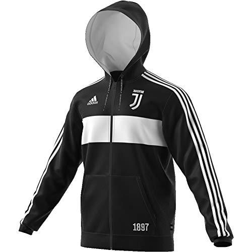 adidas Herren Juventus Full Zip Kapuzenjacke, schwarz/weiß, S