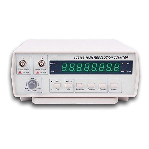EPRO Digital Bench Frequenz Signal Meter mit AC Power Kabel BNC Test führt 10Hz - 2,4 GHz VC3165 ()