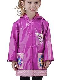 Little Girl's Pink Flower Raincoat (Toddler / Little Kids)