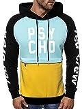 OZONEE Herren Kapuzenpullover Sweatshirt Pullover Aufdruck Modern Täglichen Streetwear Sport Sportswear Langarmshirt A/0972