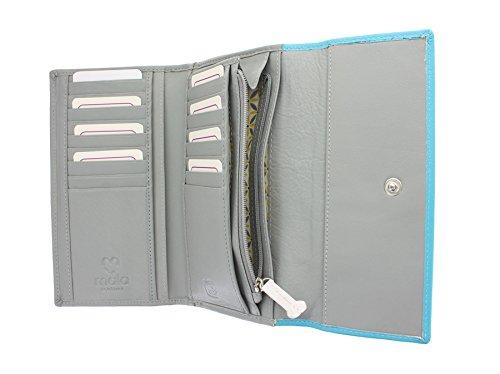 Pelle mala BEAU Leather Collection Tri borsa volte con RFID Protezione 3328_89 Grey Grey