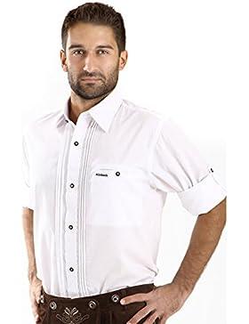ALMBOCK Trachtenhemd Herren weiß   Slim Fit Trachten Hemden aus Baumwolle in Gr. S-XXXL   in 2 Modellen - mit...