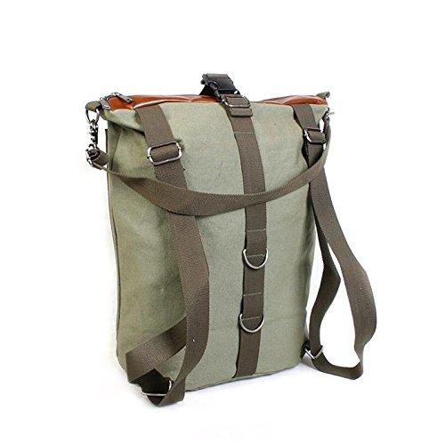 &ZHOU femminile borsa di tela grande capacità tracolla zaino del messaggero di svago di 34.5 * 20 * 47 , army green army green