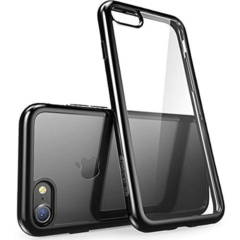 iPhone 7 Hülle, iPhone 8 Hülle, i-Blason [Halo Serie] Schutzhülle Transparente Case Kratzfeste Cover Schale für Apple iPhone 7 / iPhone 8, Klar/Schwarz